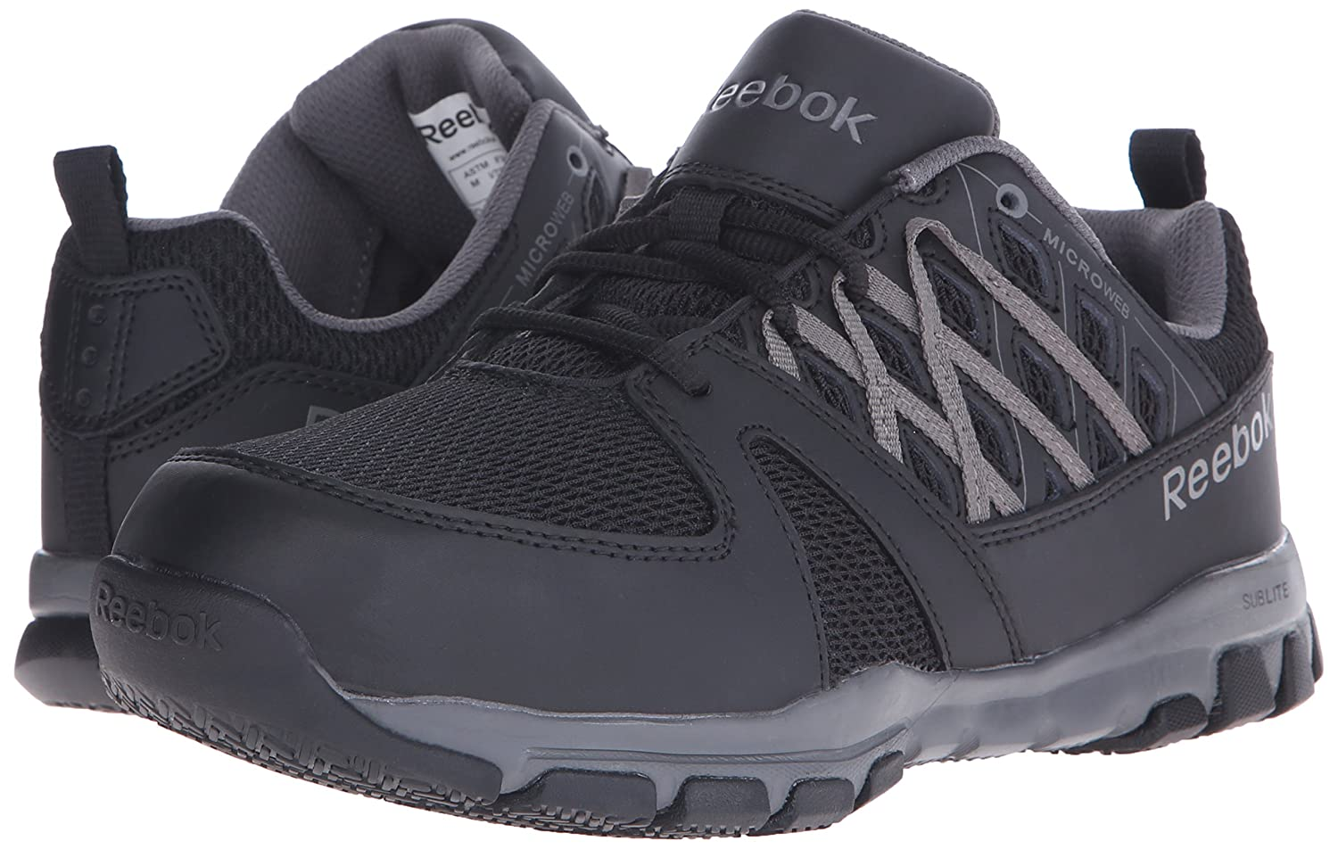 Amazon.com  Reebok Work Men s Sublite Work RB4016 Athletic Safety Shoe   Shoes 410facd80