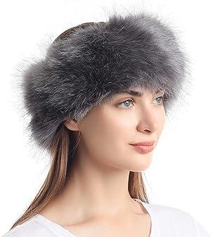 La Carrie Faux Fur Headband with Stretch Women's Winter Earwarmer Earmuff