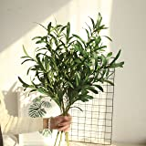 """NOLAST 37"""" Long of Artificial Eucalyptus Leave Faux Greenery Branches Stems Fake Plants for Home Party Decoration"""