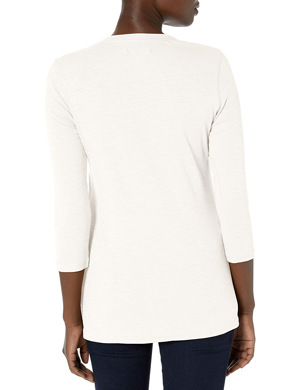 CHAPS Womens 3//4 Sleeve Crewneck Henley Shirt Henley Shirt