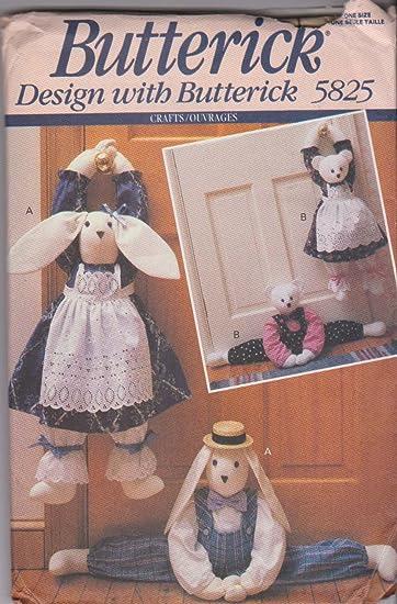 Amazon.de: Bunny & Bear Entwurf Pfropfen Butterick Nähmuster 5825