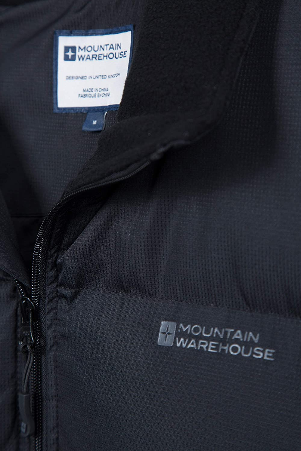 Mountain Warehouse Rock Mens Padded Water Resistant Puffer Vest Warm