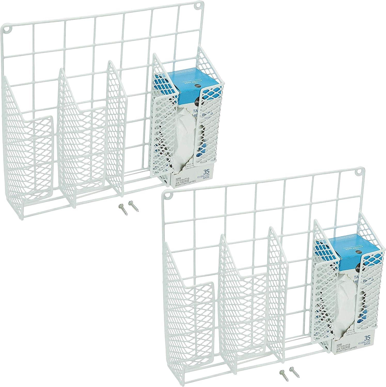 Evelots Wrap//Foil Organizer Rack-Kitchen Cabinet Door-Wall-Plastic Coated Iron