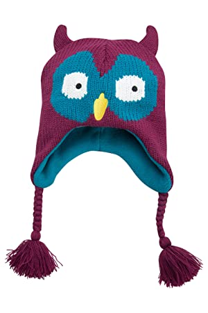 eaf17a82aaa Mountain Warehouse Owl Kids Hat - Fleece Lining Kids Cap
