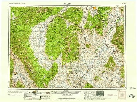Amazon Com Dillon Mt Topo Map 1 250000 Scale 1 X 2 Degree