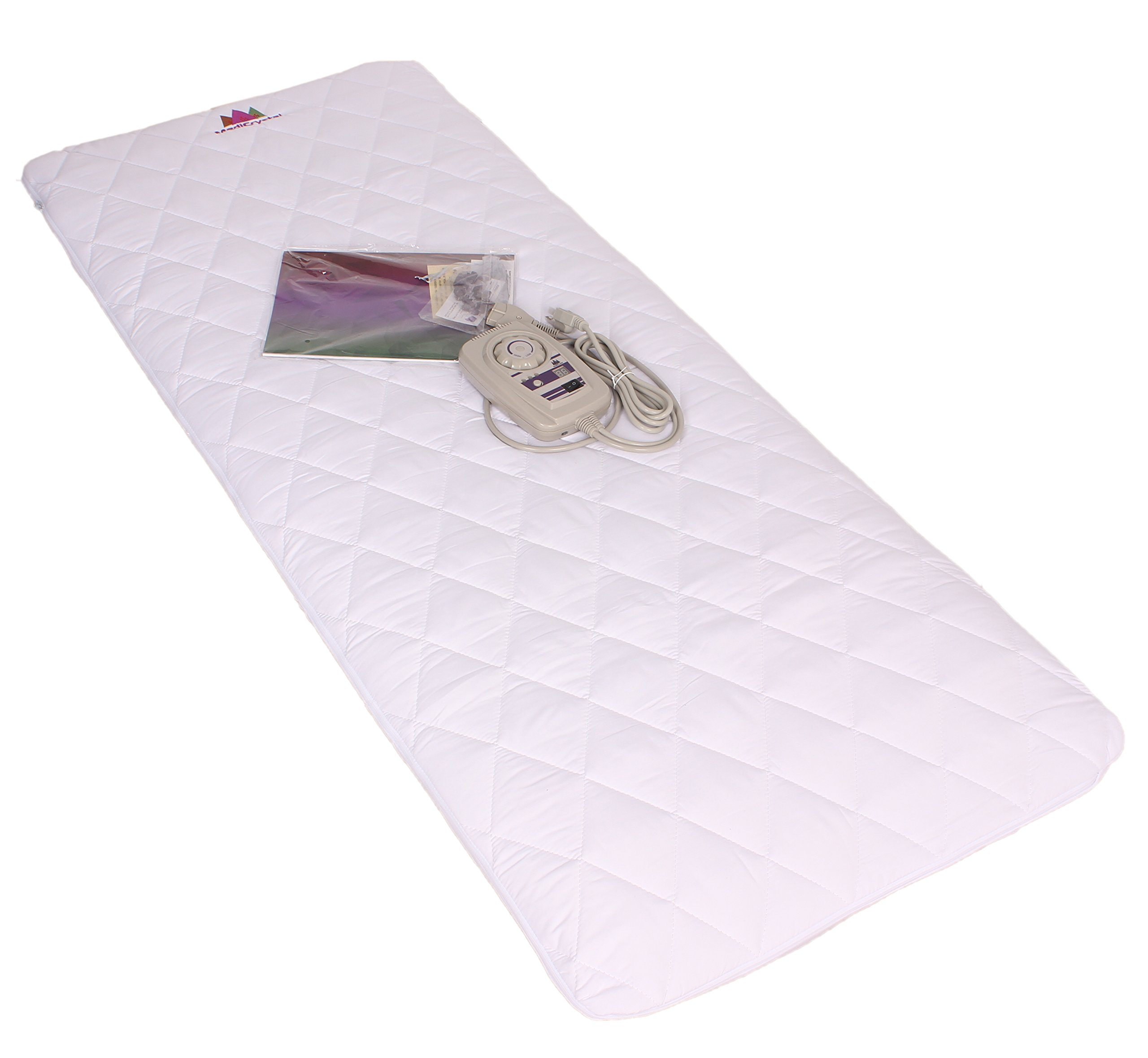 Far Infrared Amethyst Mat Midsize (59''L x 24''W) - Negative Ion - FIR Therapy - Natural Amethyst - FDA Registered Manufacturer - Adjustable Temperature Setting - Hot Crystal Heating Pad - Reddish Brown by MediCrystal (Image #7)