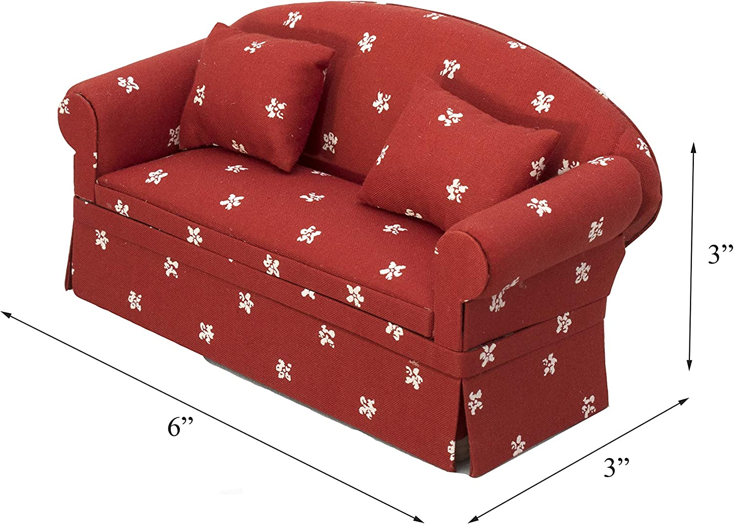 AB/_ 1:12 Dollhouse Miniature Furniture Floral Sofa Couch Living Room Decor Toy C