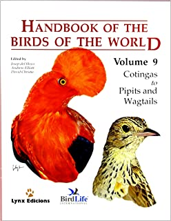 Handbook Of The Birds World Volume 9 Cotingas To Pipits And Wagtails