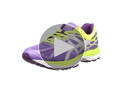ASICS - Gel-Cumulus 17 GS, Zapatillas de Running Niñas, Morado (Iris/Silver/Flash Yellow 3593), 32.5 EU: Amazon.es: Zapatos y complementos