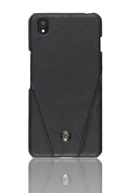 separation shoes 4488b e6a5f Parallel Universe Stitched Leather Hard Back Cover for Oneplus X - Black