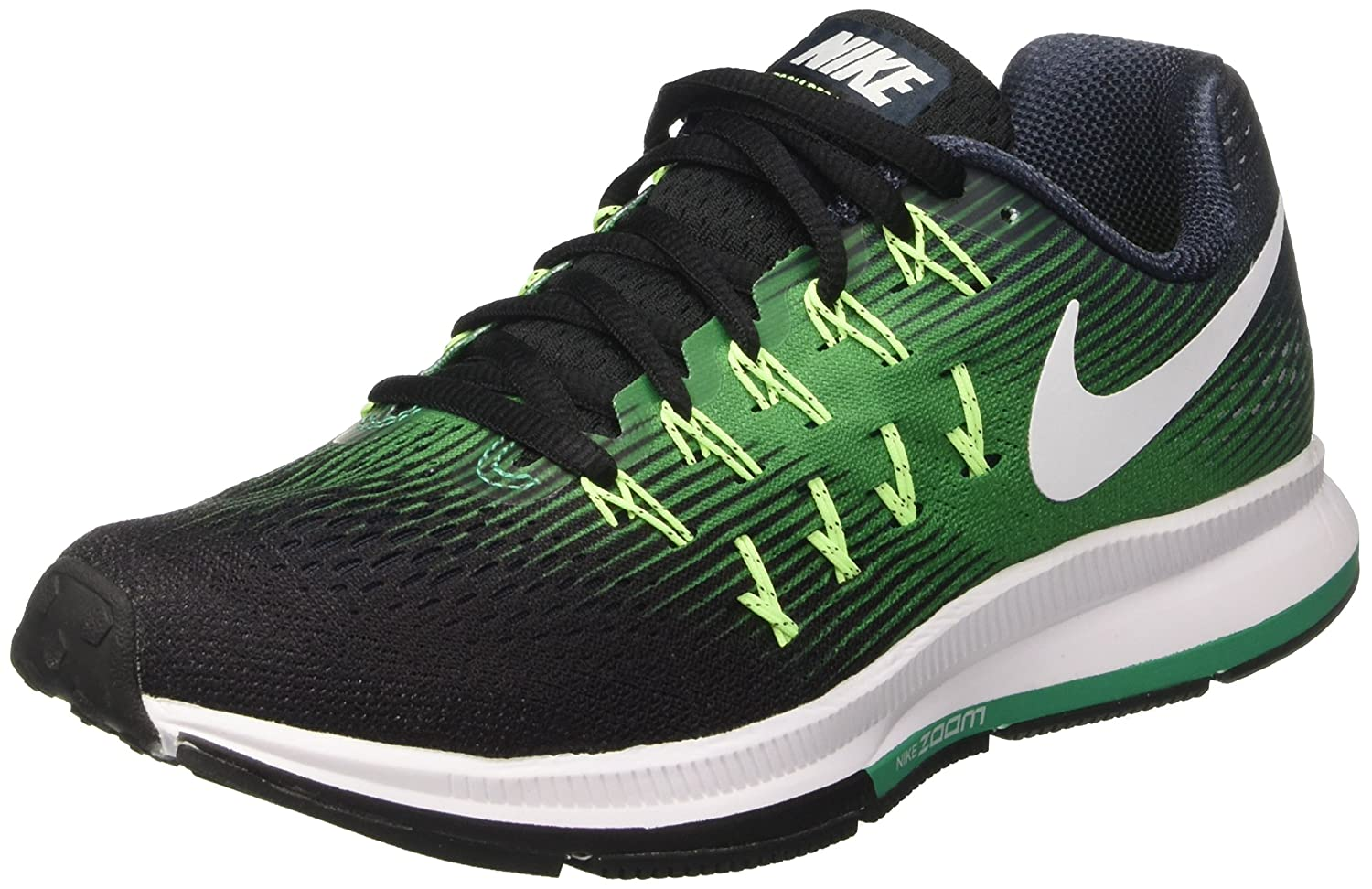 Nike Men's Air Zoom Pegasus 33 B01H2MDX52 12 D(M) US|Armory Navy/White/Black/Stadium Green