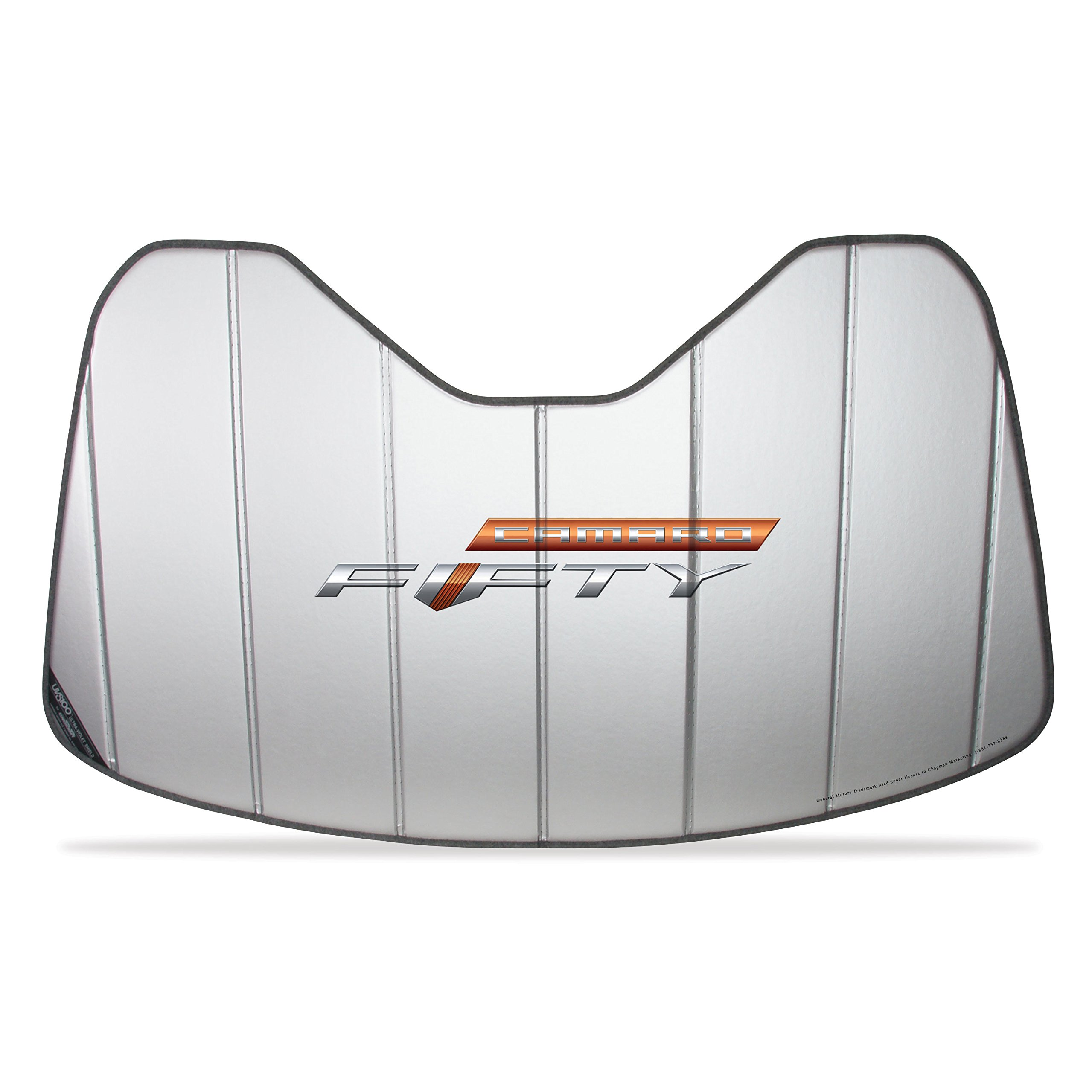 Camaro Fifty Accordion Style Sunshade - Insulated Silver