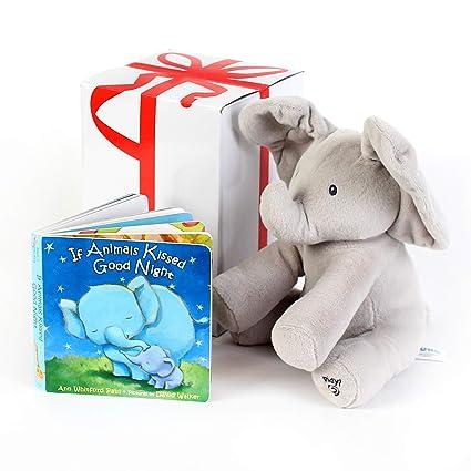 Amazon.com: Gund bebé Animated Flappy el elefante de peluche ...