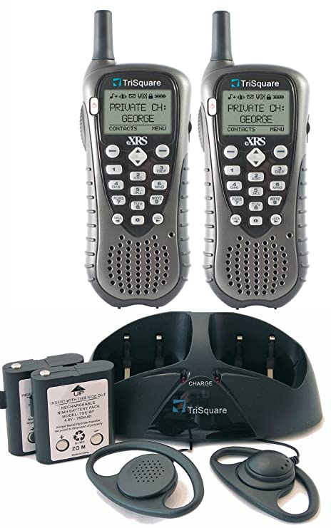 Amazon TriSquare EXRS TSX300 2VP 900MHz FHSS Digital Two Way Radio Charcoal Metallic Black Pair Discontinued By Manufacturer Home Audio