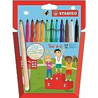 STABILO Trio AZ Rotulador escolar - Estuche de 12 colores