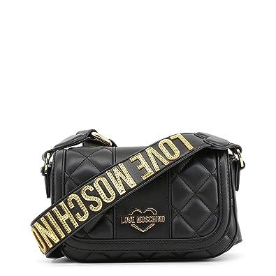 50f97daf1e Love Moschino petit sac noir matelassé bandoulière Akita Black Leather:  Amazon.fr: Chaussures et Sacs