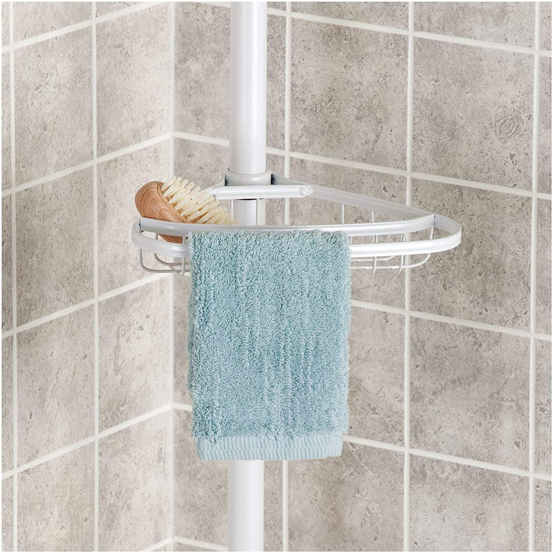 Body Wash Soap Matte Black Conditioner InterDesign 42687 York Bathroom Constant Tension Corner Shower Caddy for Shampoo
