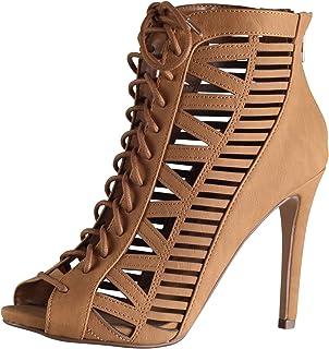 Amazon.com | Delicious Patron Women's Platform Lace Up Heels | Pumps