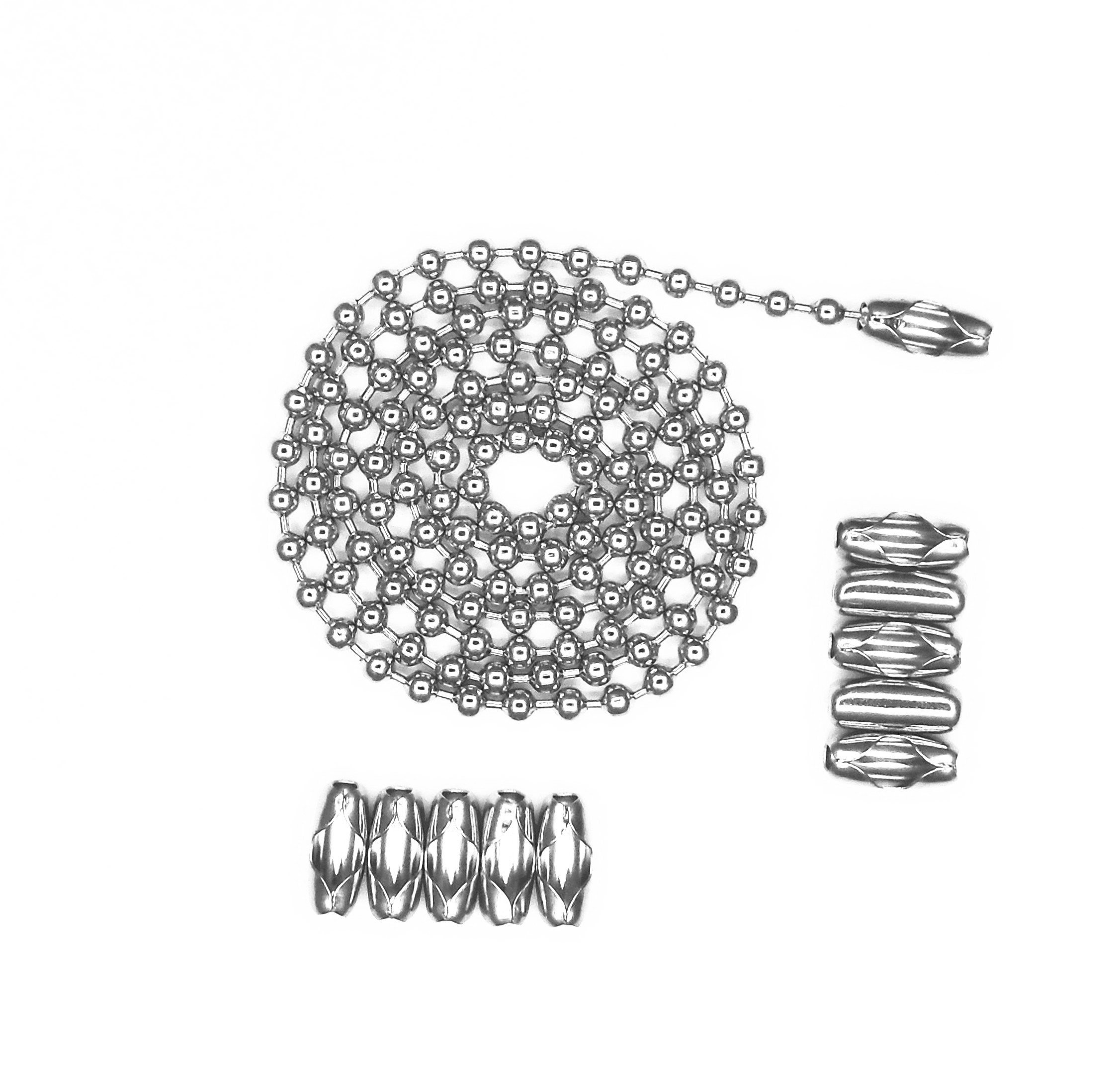 Glory Qin 4.0mm Stainless Steel Ball Chains & 10 Matching connectors (#8, 10 Feet) by Glory Qin