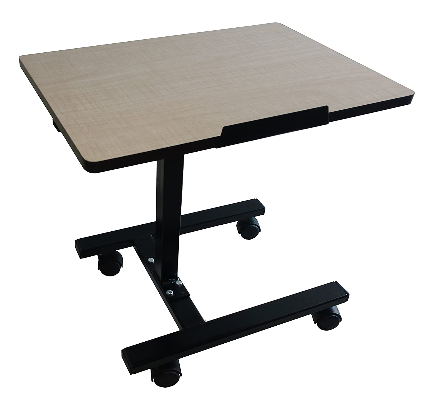 accent laptop steam alameda wheeled desk black and mango table glass front products tempered chrome quarter portable