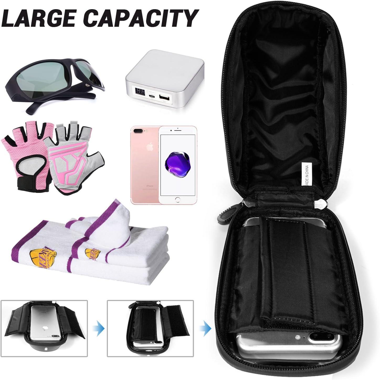 LEMEGO Waterproof Bike Handlebar Phone Holder Pouch Bag Universal Bicycle Rear