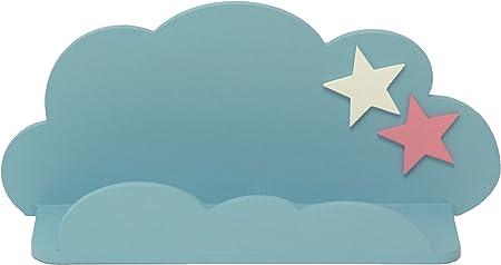 Sonpó Online - Modelo AFA18 - Estante infantil con forma de nube de AFAEPS para colocar libros, juguetes - Hecho a mano de manera artesanal en madera ...