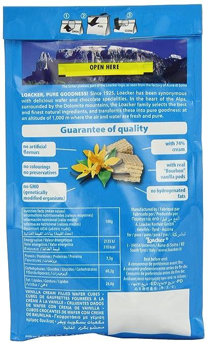 Amazon.com : Loacker Quadratini Vanille 125g - Knusprige Waffelwürfel mit Vanillecreme : Grocery & Gourmet Food