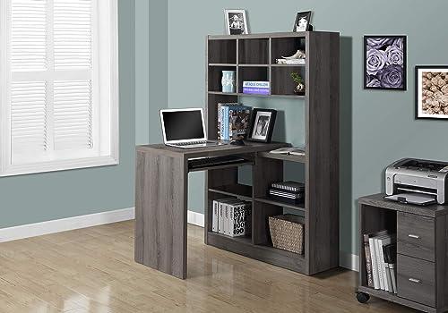 Monarch Specialties I Storage-Bookcase Left Or Right Set Up-Corner Desk