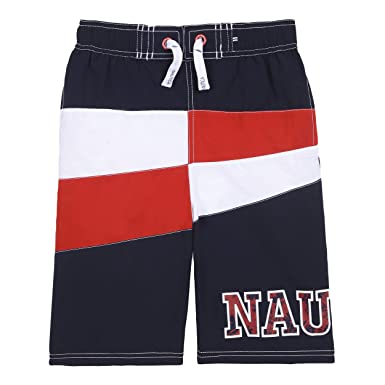 bc97170bef Image Unavailable. Image not available for. Colour: Nautica Little Boys' Swim  Trunk with UPF 50+ Sun Protection ...
