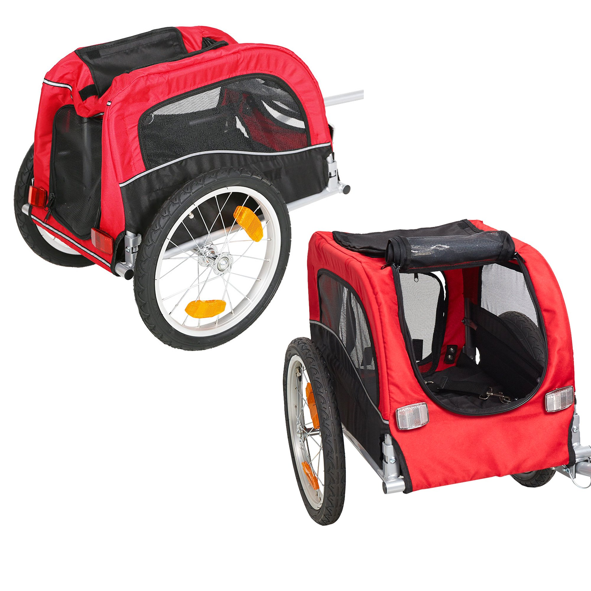 Lucky Tree Pet Dog Bike Trailer Bicycle Trailer Carrier Cycling Jogging w/Suspension by Lucky Tree (Image #4)