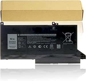 DJ1J0 Laptop Battery for Dell Latitude 12 7280 K8X0T KHY0C 7290 E7280 E7290 13 7380 7390 E7380 E7390 14 7480 E7490 Notebook Battery PGFX4 ONFOH 451-BBZL C27RW [ 11.4V 42Wh ]
