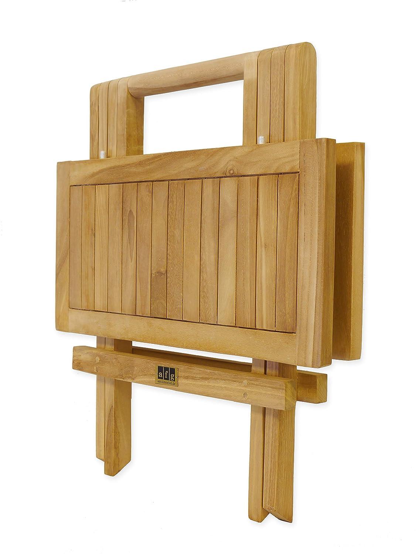 Pieghevole Tavolo da Giardino in Legno di Teak Massiccio 50 cm Non trattato AFG