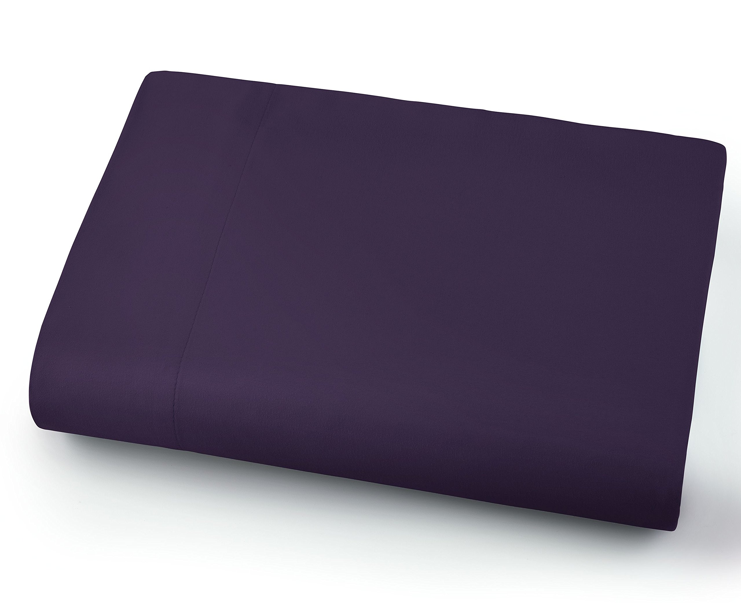 Southshore Fine Linens - Oversized Flat Sheets Extra Large - 132 Inches x 110 Inches (Purple)