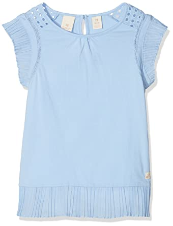 0f39c139d Scotch   Soda Girl s Jersey Top with Pleated Woven Ruffles T-Shirt ...
