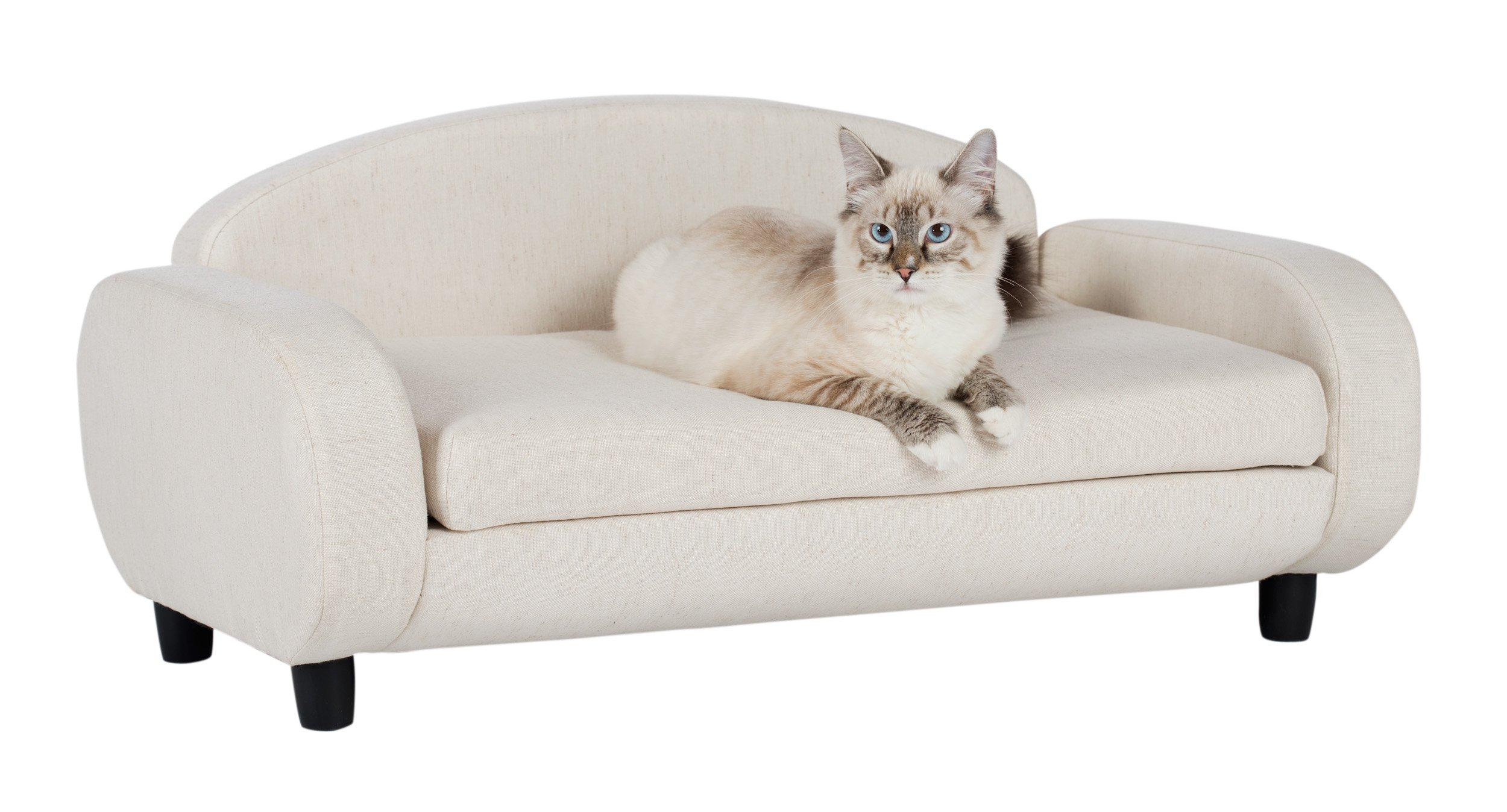 Paws & Purrs Pet Upholstered Sofa Bed, Oatmeal by Paws & Purrs