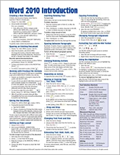 Ms Word 2010 Quick Reference Guide Pdf - User Guide Manual That Easy ...