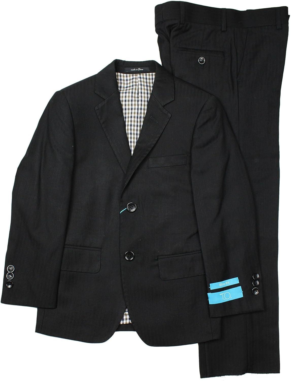 T.O Collection Boys Black SLIM FIT Suit 3765-39