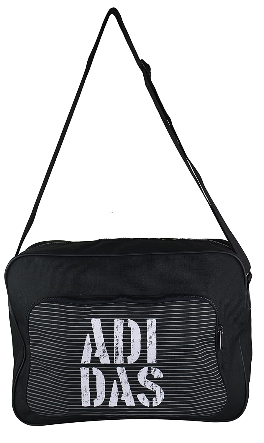 Adidas Originals Unisex Neo Street Graphic Messenger Bag, Black, 38 cm x 28 cm x 11 cm