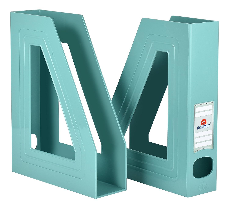 2 Pack Acrimet Magazine File Holder Solid Green Color