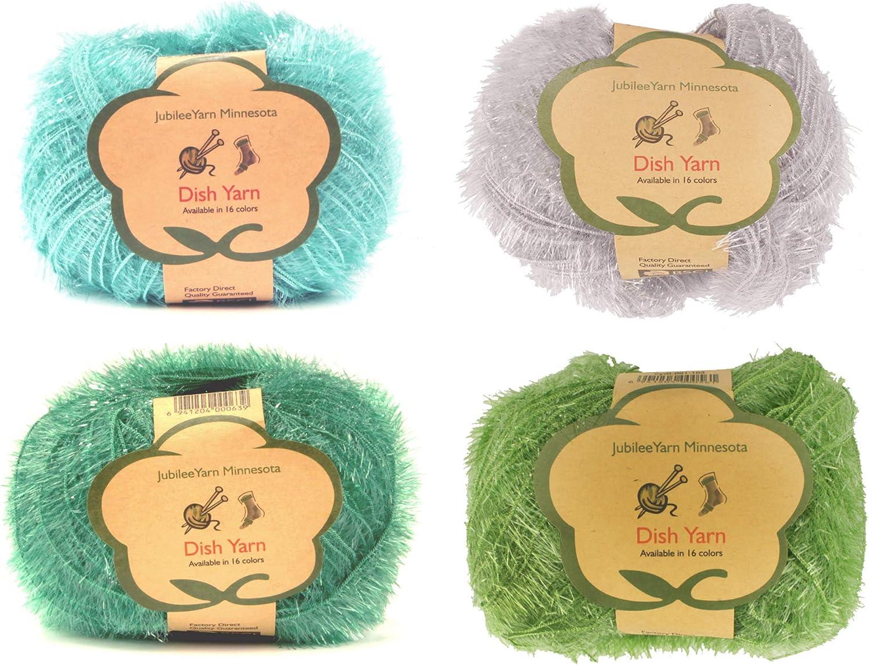 Gold Mustard 90g Scrubby Tawashi Sparkle Yarn Veggie Washer Glitter Yarn Eco-Friendly Multi Purpose Susemi Dishwash Pongpong