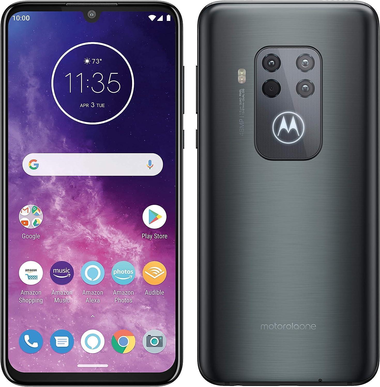 Motorola One Zoom, Quad Camera 48MP, 128GB, Amazon Alexa Hands-Free, Batteria 4000 mAh TurboCharge, Display OLED MaxVision 6.4