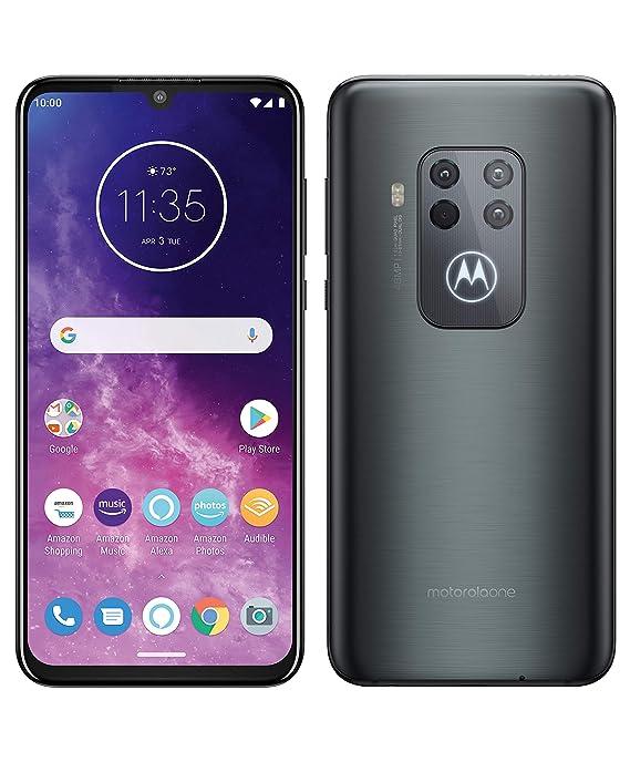 """Motorola One Zoom con Alexa Hands-Free (Pantalla 6,4"""" FHD+, Sistema de 4 cámaras, 128 GB/4 GB, Android 9.0, Dual SIM) Color Gris Eléctrico + ..."""