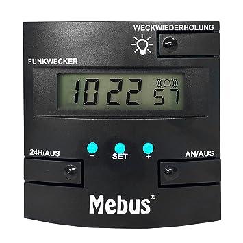 Mebus Digital Radio despertador, DCF77 Reloj, con indicador de fecha & Naranja Fondo