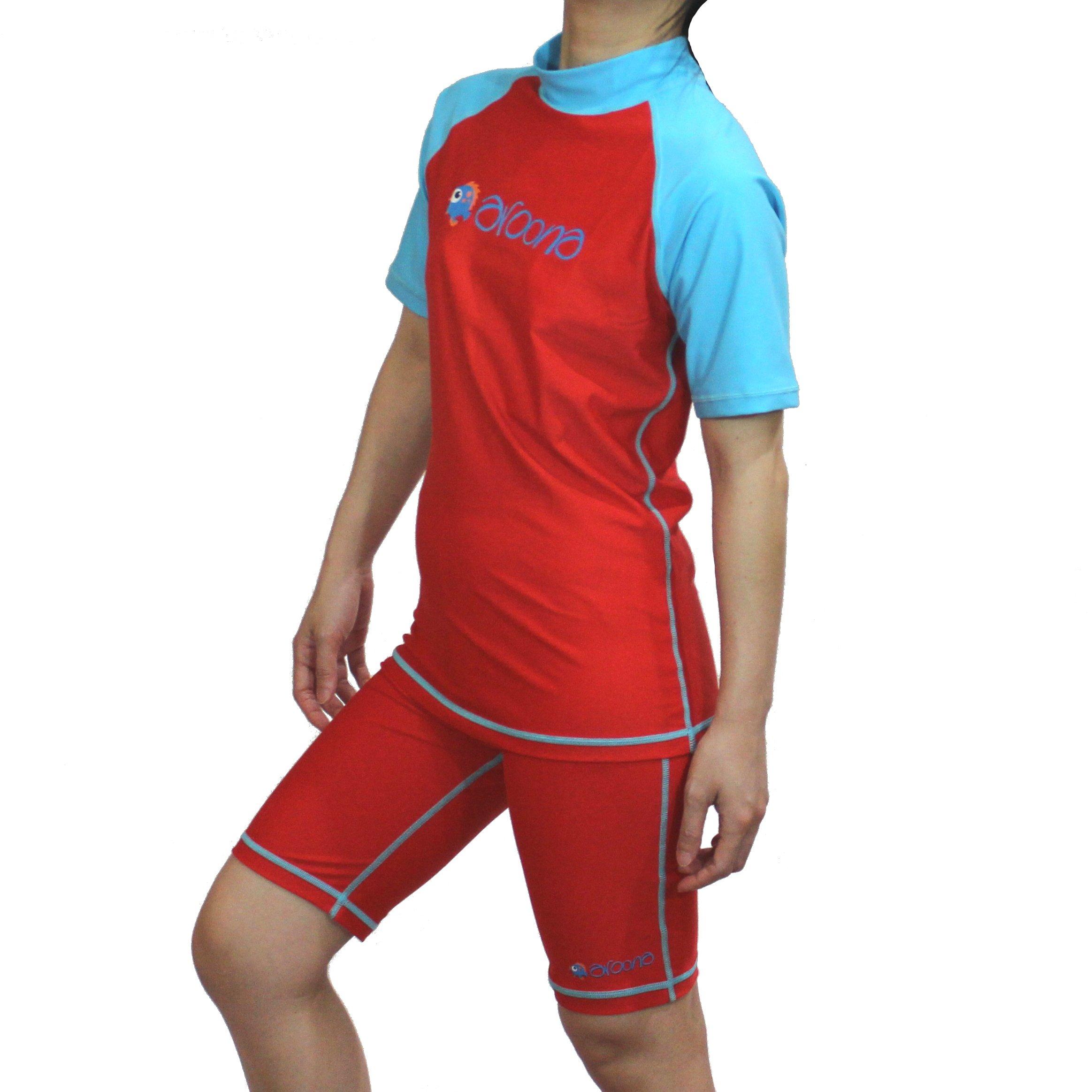 Wenge Girls Bathing Suits Girls Two Piece Swimsuit Rash Guard Sets 3-12 Years