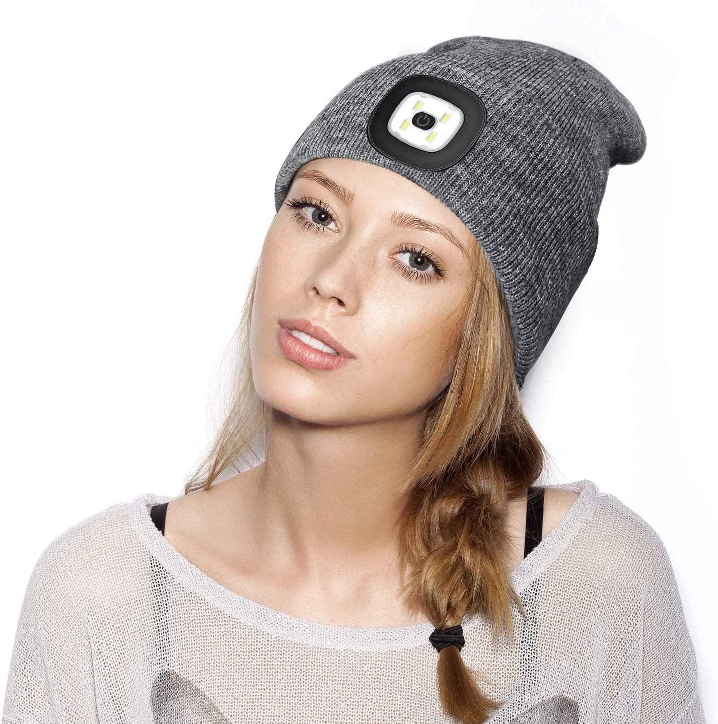 JIABAN LED USB Charging with Beanie to Use Outdoor Sports Hat Parts