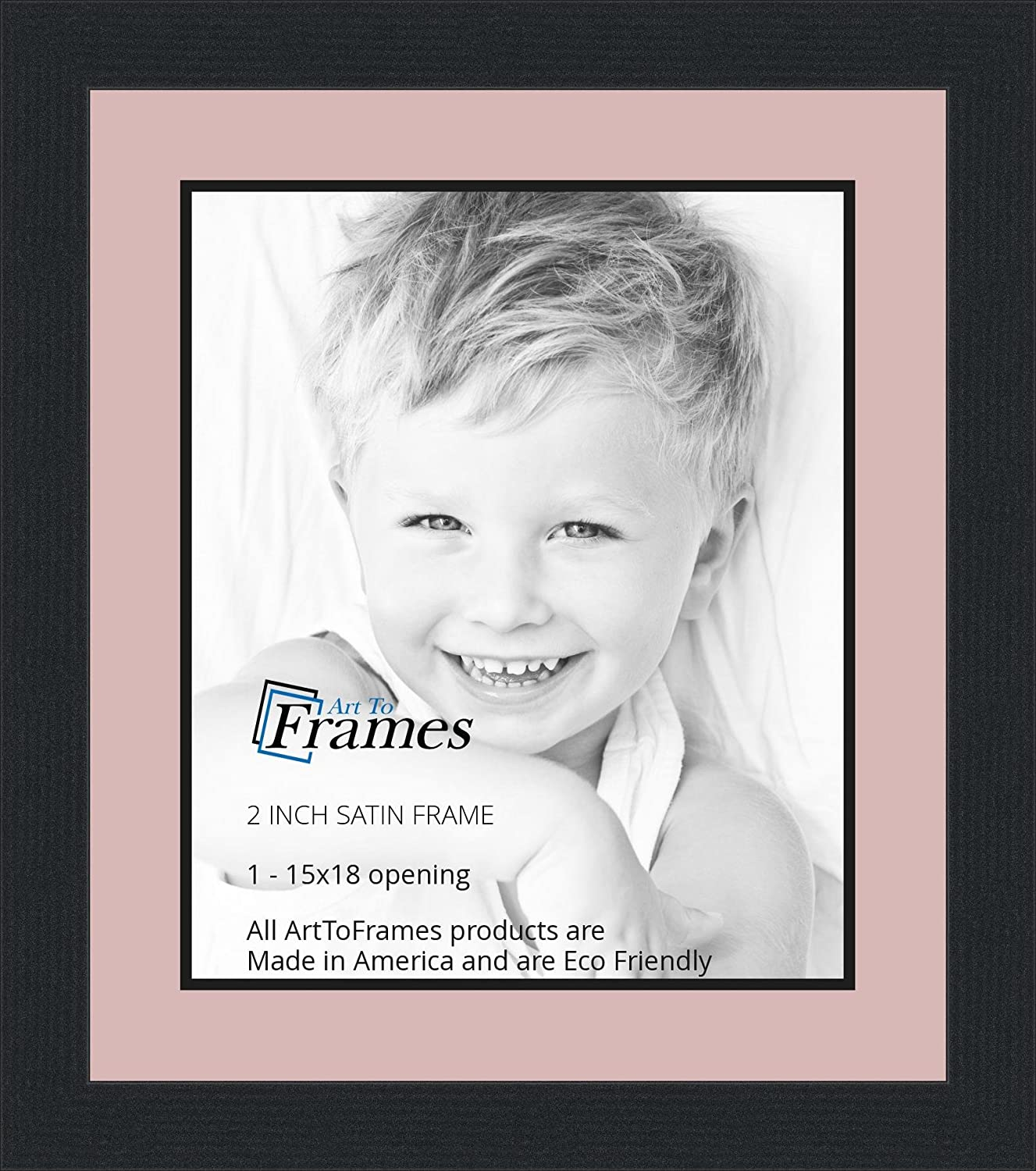 Amazon.com - 15x18 / 15 x 18 Picture Frame Satin Black .. 2\'\' wide ...