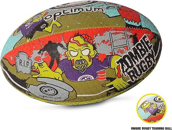 OPTIMUM Pelota de Rugby Zombie para Hombre, Multicolor, tamaño 3, Unisex Adulto: Amazon.es: Deportes y aire libre