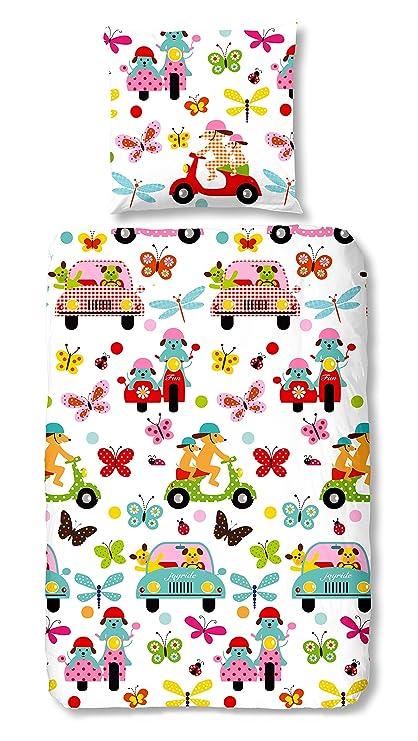 Aminata Kids Multicolores Parure De Lit 135 X 200 Cm Enfants Fille