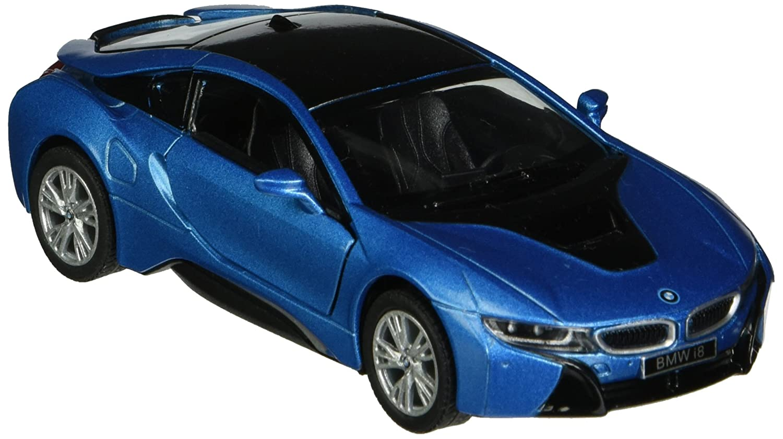 Amazon Com Kinsmart Bmw I8 1 36 Scale Super Car Blue Toys Games