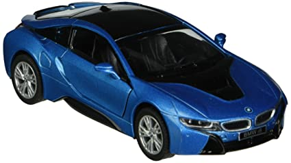 Amazon Com Kinsmart Bmw I8 1 36 Scale Super Car Blue Toys Games